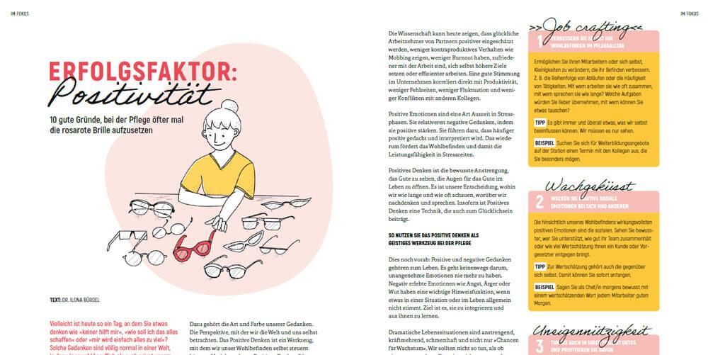 WIRKSAM Pflegemagazin - Erfolgsfaktor Positivität